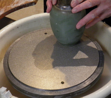 12 inch double sided diamond grinding disc in use