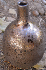 Luster Brown Crystalline Vase