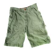 Green military shorts