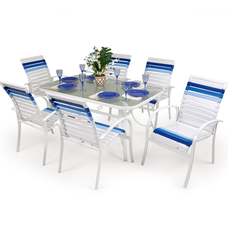 Outdoor Aluminum Strap Dining