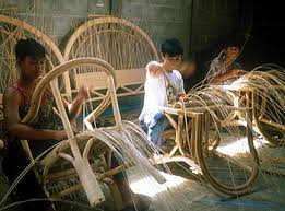 Hand Weaving Rattan and Wicker