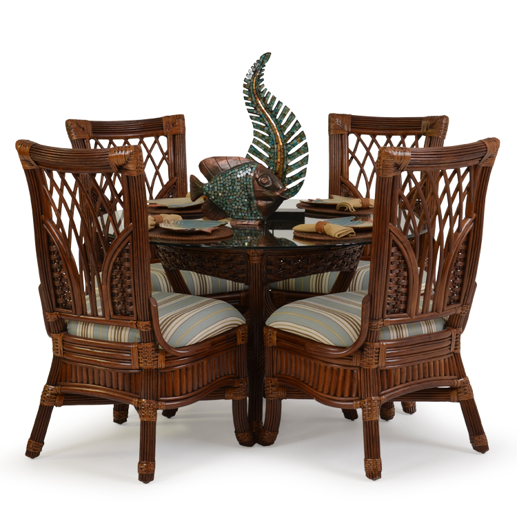Rattan And Wicker Dining Set