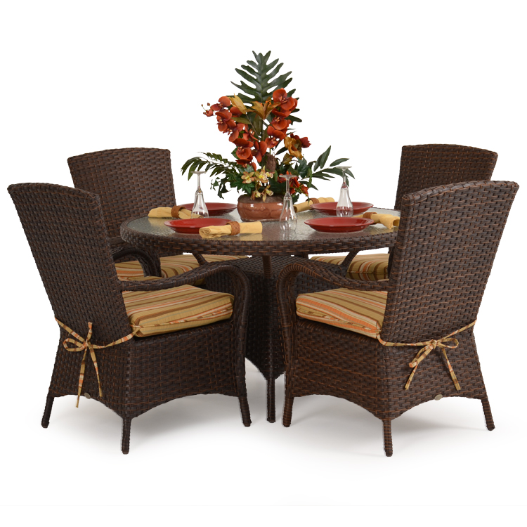 Outdoor Resin Wicker Dining Set