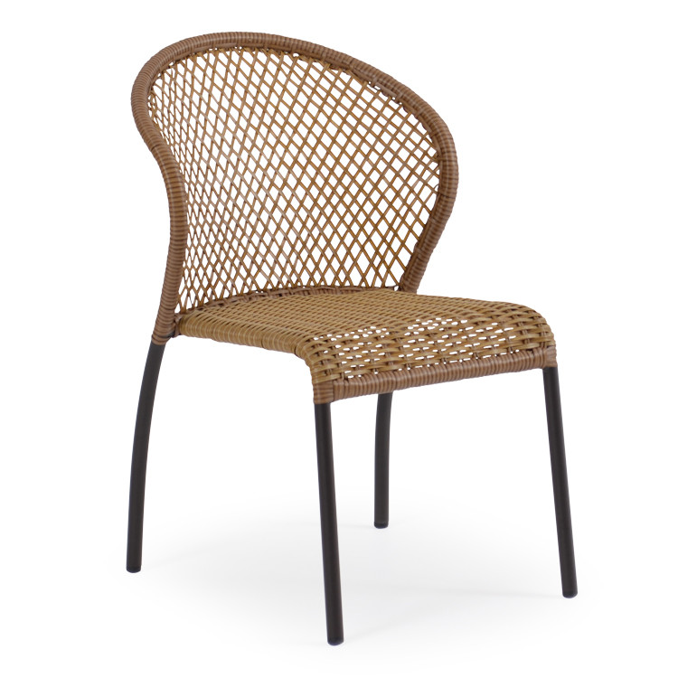 Empire Outdoor Wicker Bistro Dining Chair Cork Leaders