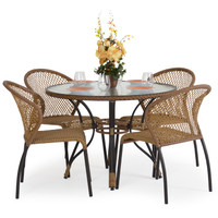 Empire  Patio 5pc Bistro Set Coconut finish
