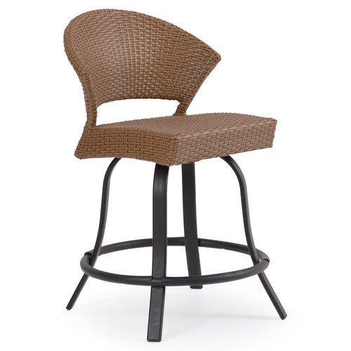 Empire Patio Wicker Counter Height Stool Cork For Sale
