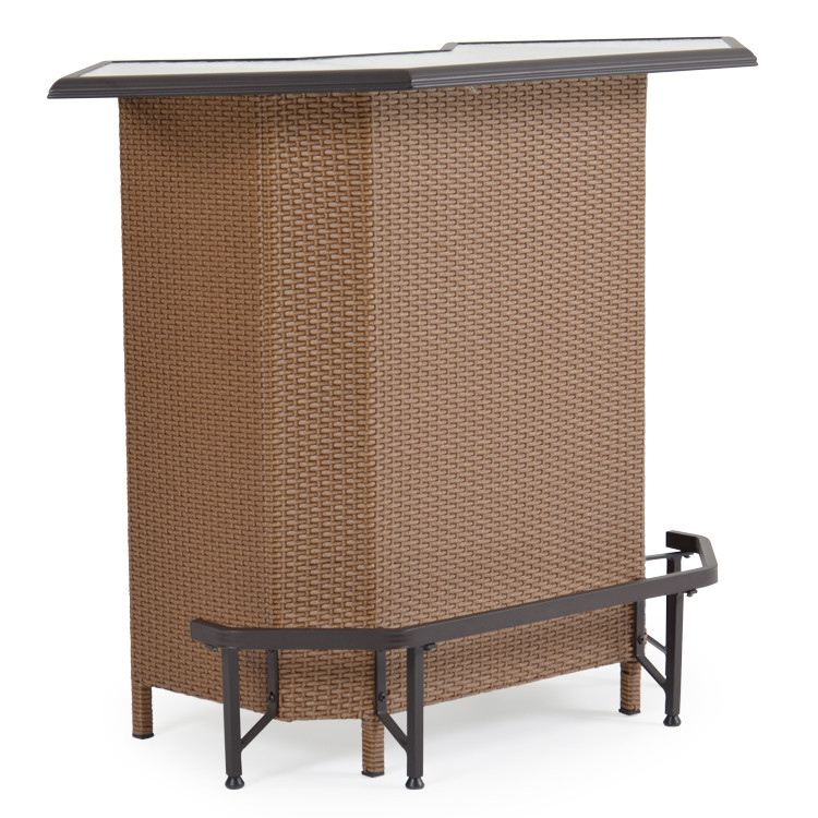 Empire Patio Wicker Bar Cork For Sale Leaders Furniture