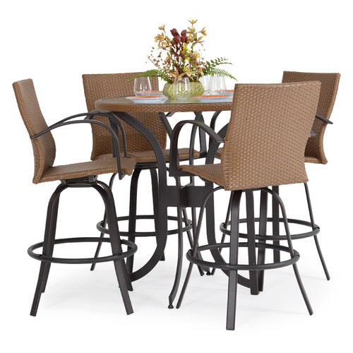 Empire Patio Wicker 5 Piece Bar Set Cork For Sale Leaders