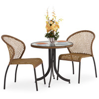 Empire 3pc Bistro Set Coconut finish