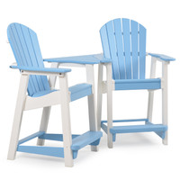Adirondack Counter Stool Set with Slide In Table