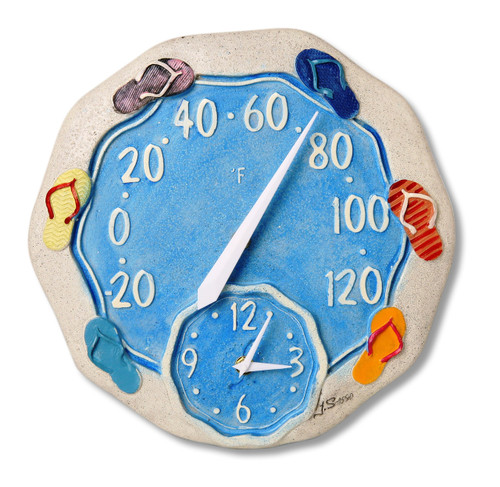 Sandals Outdoor Clock And Thermometer For Sale Leaders