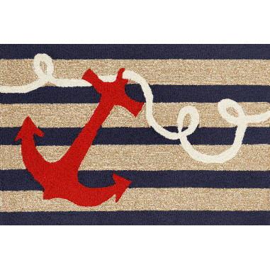 Nautical Anchor Welcome Mat For Sale Leaders Furniture