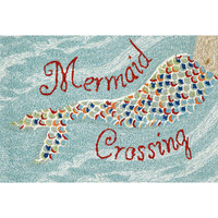 "Mermaid Crossing"" Welcome Mat"