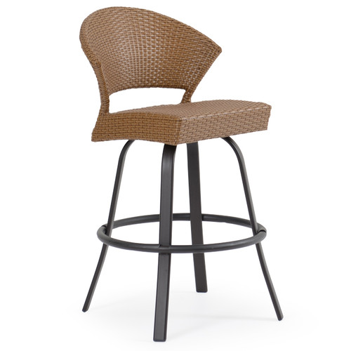 Empire Patio Wicker Bar Height Stool Cork For Sale