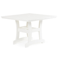 "Bayshore 42"" Square Poly Lumber Dining Table"