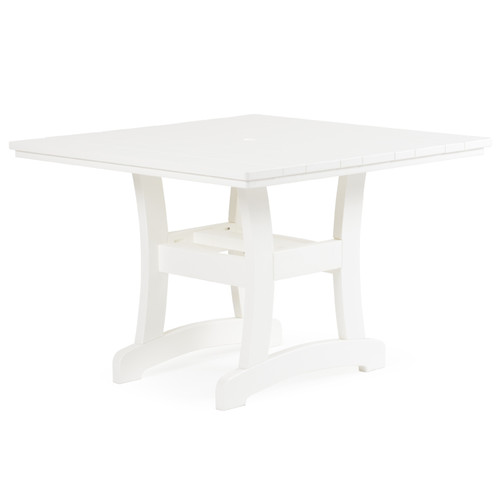 Bayshore 42 Quot Patio Square Poly Lumber Patio Dining Table For Sale Leaders Furniture