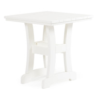 "Bayshore 28 "" Square Poly Lumber Patio Dining Table"