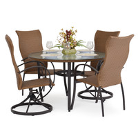 Empire Outdoor High Back Dining Set