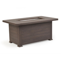 Maldives Outdoor Rectangular Firepit  Brown Walnut