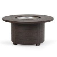 "Maldives Outdoor 48"" Round Firepit  Brown Walnut"