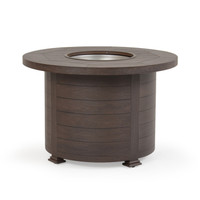 "Maldives Outdoor 36"" Round Firepit  Brown Walnut"