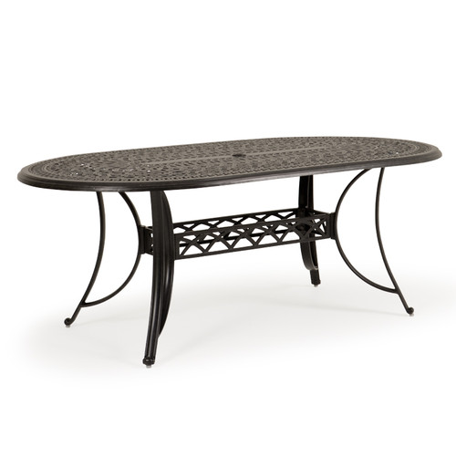 Charleston Outdoor Cast Aluminum Oval Table