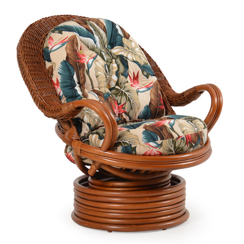Superior Bali Rattan Swivel Rocker
