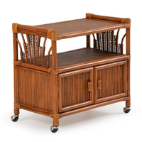 Bali Rattan Cart in Pecan Glaze Satin