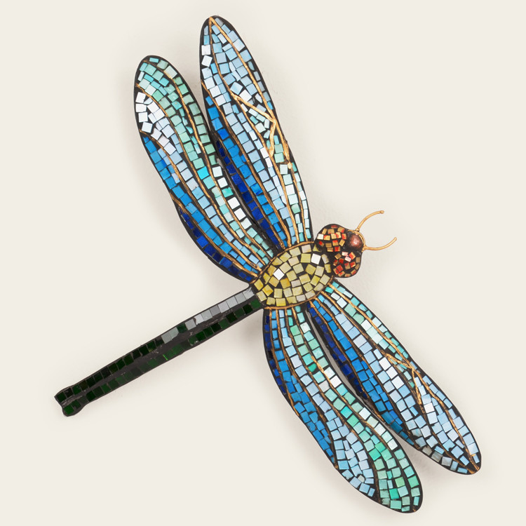 Dragonfly mosaic wall art leaders casual furniture for Dragonfly wall art