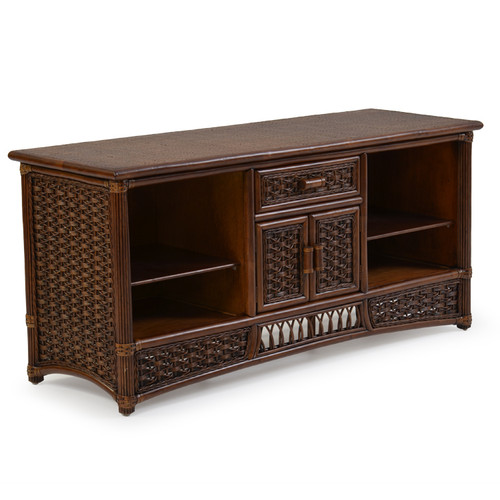 Island Way Rattan Tv Stand Leaders Casual Furniture