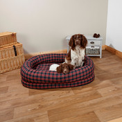 OTT Snuggle Bed - Red-Black Tartan