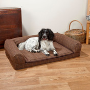 Premier Tweed Dog Lounger - Green