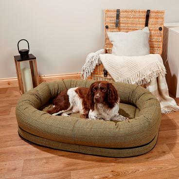 Premier Tweed Snuggle Bed - Green