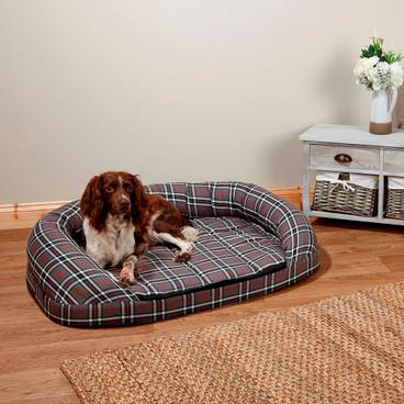 OTT Dog Bed - Grey Tartan