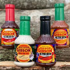 Blue Ribbon Sauce Sample 4-Pack (Championship Red, White, Habanero, Mustard)