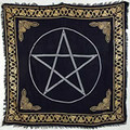 "Altar Cloth - Gold Bordered Pentagram 36""x36"""