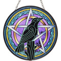 Raven & Pentacle Glass Sun Catcher