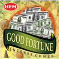 Good Fortune Incense Cones by HEM