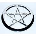 Silvery Pentacle Altar Tile 2.75""