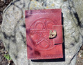 Pentacle Leather Embossed Journal w/clasp