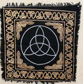 "Altar Cloth Gold Border Triquetra 24""x24"""