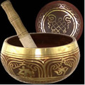 Brass Singing Bowl - Red 5.5""