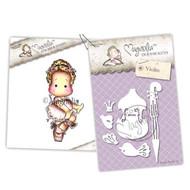 Magnolia Stamps - Stamp & Cutz - Capturing Moments - Danish Royal Opera Tilda & Violin