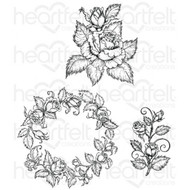 Heartfelt Creations Classic Rose Bouquet Cling Stamp (HCPC-3754)