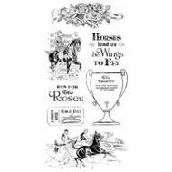 Graphic 45 - Off to the Races - Cling Stamp Set 2 (ICO369)