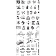Prima Marketing - Clear Planner Christmas Stamps