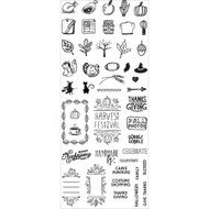 Prima Marketing - Clear Planner Fall Stamps