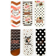 Love, Faith, Scrap Planner Magnetic Bookmarks
