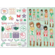Prima Marketing Planner Monthly Stickers -March - By Julie Nutting