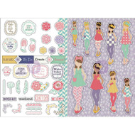 Prima Marketing Planner Monthly Stickers - June - By Julie Nutting